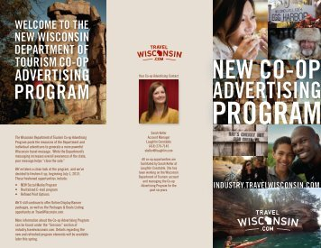 New Co-op Advertising Brochure - Wisconsin Department of Tourism