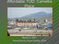 Affordable TOD: Camellia Place - Center for Community Innovation