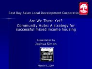 TOD Hubs ppt-UC Final - Center for Community Innovation