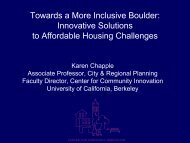 Towards a More Inclusive Boulder - Center for Community ...