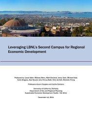 Leveraging LBNL's Second Campus for Regional Economic ...