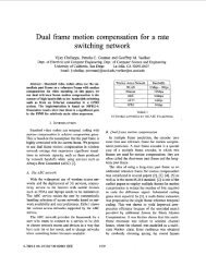 Dual frame motion compensation for a rate switching - Information ...