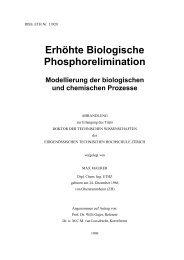 Erhöhte Biologische Phosphorelimination - Eawag