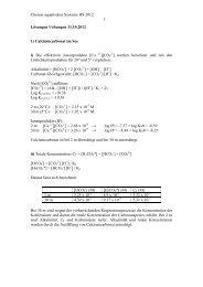 Lösungen zu Uebungen 11.10.12 - Eawag