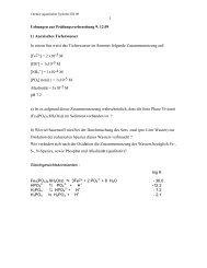 Uebungen zur Prüfungsvorbereitung 9 - Eawag