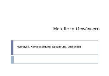 Praesentation Metalle - Eawag