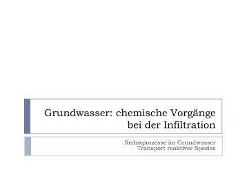 Grundwasser: chemische Vorgänge bei der Infiltration - Eawag