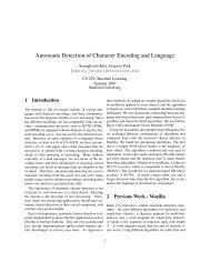 Automatic Detection of Character Encoding and Language - CS 229 ...