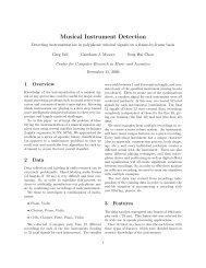 Musical Instrument Detection - CS 229