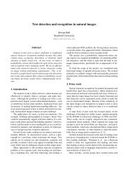Text detection and recognition in natural images - CS 229 - Stanford ...