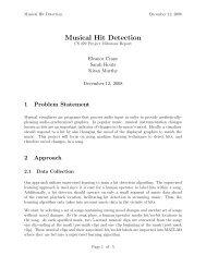 Musical Hit Detection - CS 229