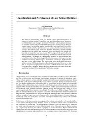 Classification and Verification of Law School Outlines - CS 229 ...