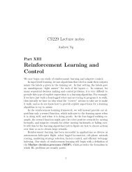 Reinforcement Learning and Control - CS 229