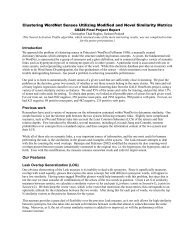 Supervised and Unsupervised Clustering of WordNet Senses - CS 229