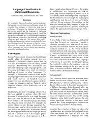Language Classification in Multilingual Documents - CS 229