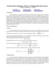 Predicted Movie Rankings: Mixture of Multinomials with ... - CS 229