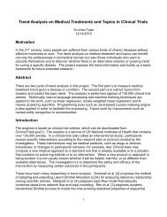 Trend Analysis on Medical Treatments and Topics in ... - CS 229