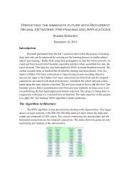 Predicting the immediate future with Recurrent Neural ... - CS 229