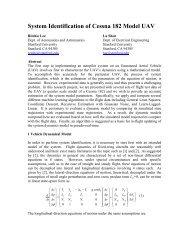 System Identification of Cessna 182 Model UAV - CS 229 - Stanford ...