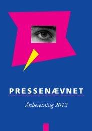 Årsberetning 2012 - Pressenævnet