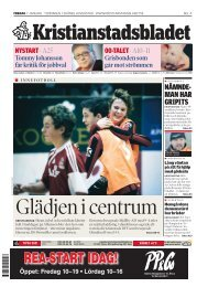 KB del A 20110107 - Kristianstadsbladet