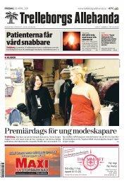 Premiärdags för ung modeskapare - Trelleborgs Allehanda