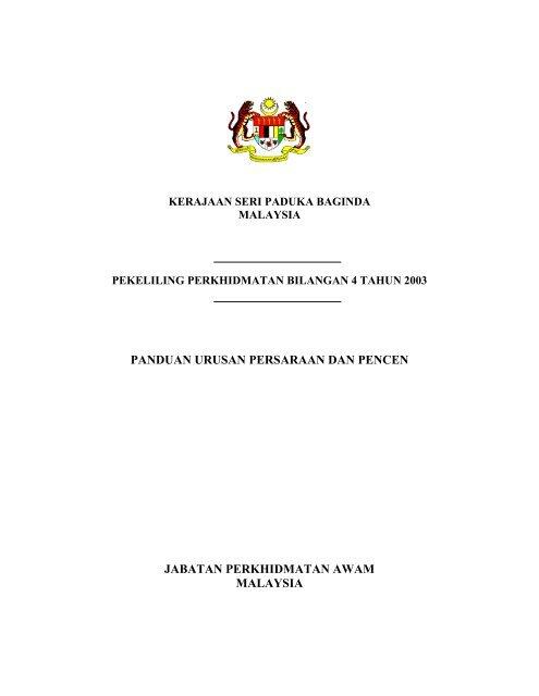 Panduan Urusan Persaraan Dan Pencen Infolib