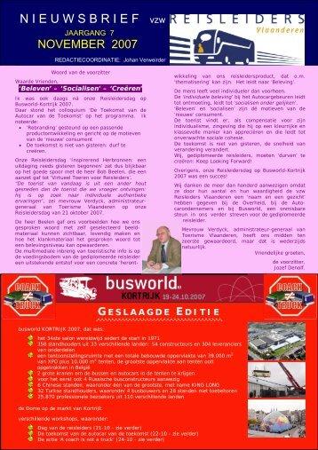 editie 11/ 2007 - Reisleidersvlaanderen