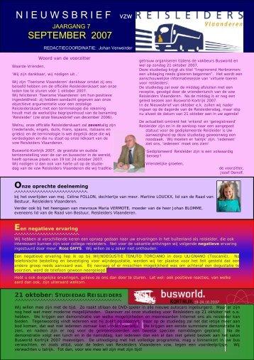 editie 09/ 2007 - Reisleidersvlaanderen