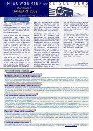 editie 01/2009 - Reisleidersvlaanderen