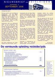 editie 09/ 2008 - vzw Reisleiders Vlaanderen