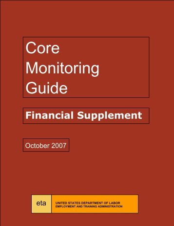 Core Monitoring Guide – Financial Supplement