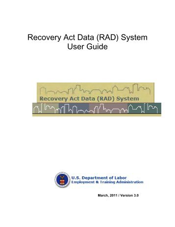 Recovery Act Data (RAD) System User Guide