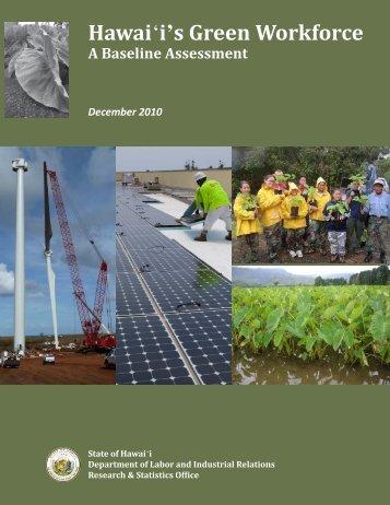Hawai i's Green Workforce A Baseline Assessment December 2010