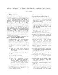 Hearst Challenge : A Framework to Learn Magazine Sales ... - CS 229