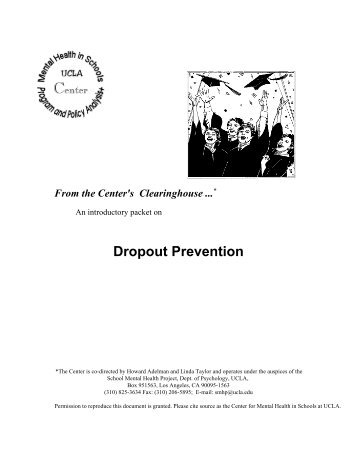 Dropout Prevention - UCLA School Mental Health Project