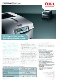 ES2232a4/ES2632a4 - OKI Printing Solutions - Graphic Arts