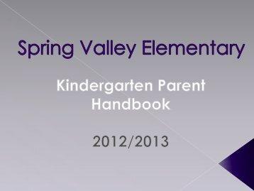 Kindergarten Handbook Orientation Powerpoint - Geary County ...