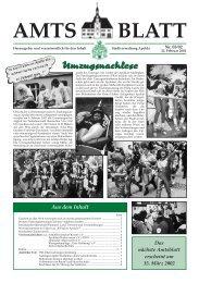 Amtsblatt Nr. 03/02 vom 22. Februar 2002 - Apolda