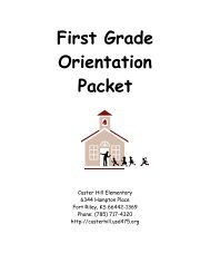 Orientation packet 2010-2011 - Geary County Schools USD 475