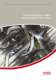PORZIONATRICI BM/8 ARROTONDATRICI AS/8 - Propizzatec.com