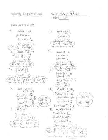 Worksheets Trigonometric Equations Worksheet solving trigonometric equations worksheet delibertad delibertad