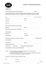 UPPGIFT OM BORGENSPERSON - JAK Medlemsbank