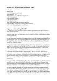 Referat från styrelsemöte den 30 maj 2009 - JAK Medlemsbank