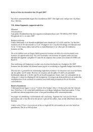 Referat från styrelsemötet den 20 april 2007 - JAK Medlemsbank
