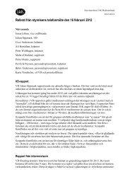 Referat från styrelsemöte den 16 febuari 2012 - JAK Medlemsbank
