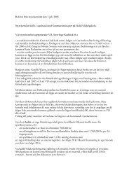 Referat från styrelsemötet den 3 juli 2005 Styrelsemötet hölls i ...