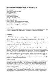 Referat från styrelsemöte den 27-28 augusti 2010 - JAK Medlemsbank