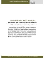Semantic Authorization of Mobile Web Services