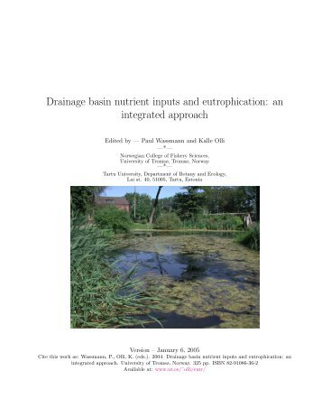 Drainage basin nutrient inputs and eutrophication: an integrated ...